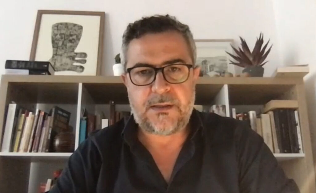 210630 Juan Antonio Lorenzo Cazorla portavoz del PSOE en Diputación en el pleno telemático de esta mañana