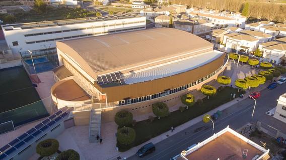 vista aerea pabellon de Deportes de Berja