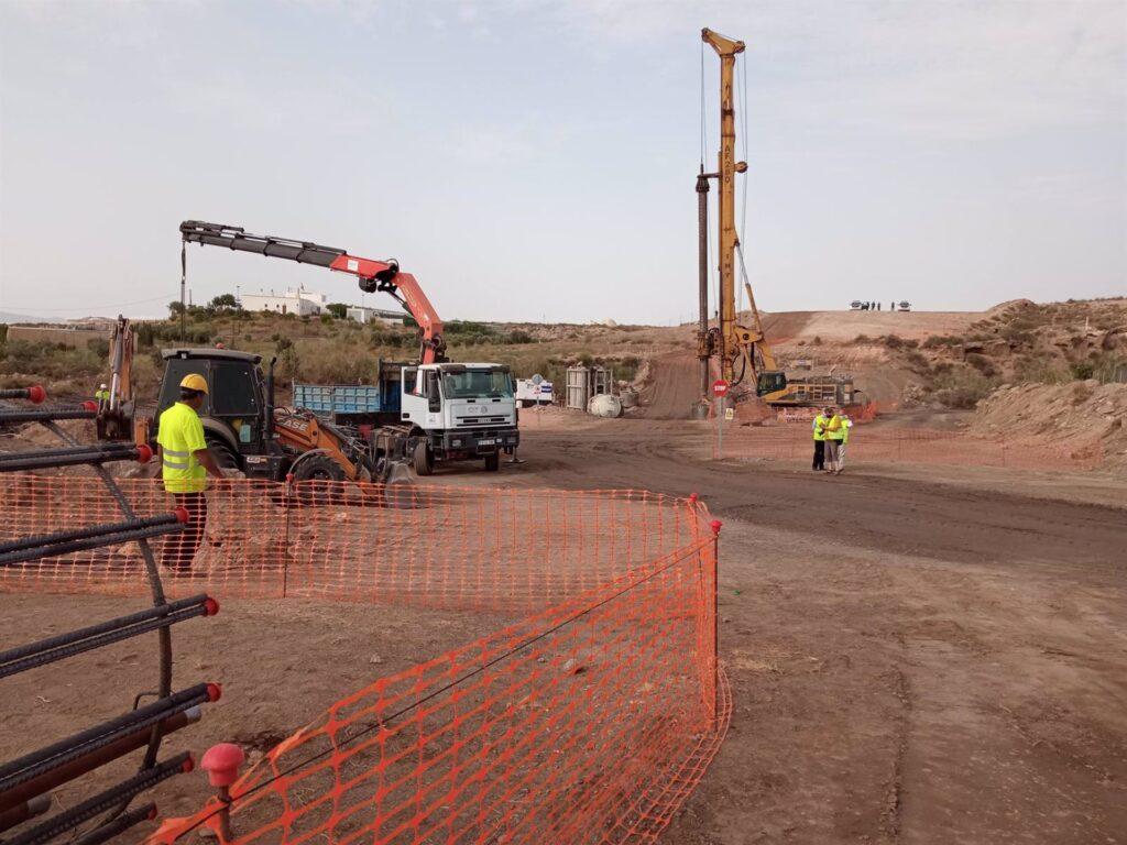 01-09-2021 Obras del Corredor Mediterráneo del AVE entre Almería y Murcia en el tramo Los Arejos-Níjar. POLITICA ANDALUCÍA ESPAÑA EUROPA ESPAÑA EUROPA ALMERÍA ANDALUCÍA AUTONOMÍAS