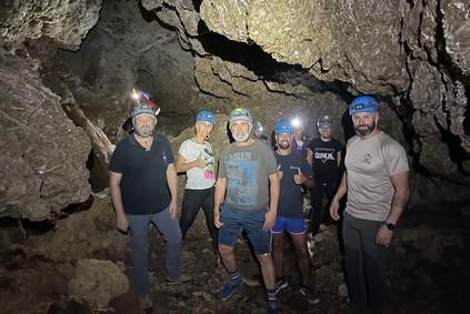 Pulpileños en la actividad de aventura en las Cuevas de Sorbas