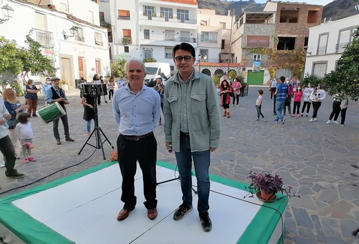 Rafael García, alcalde de Velefique y Manuel Guzmán, diputado de cultura y cine