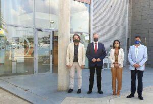 VISITA CIESOL Rafael Burgos, Diego Valera, Marta Bosquet y José Antonio Sánchez